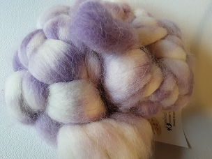 Light Lavender Alpaca dyed combed top