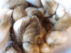 Shades of Olive Alpaca dyed combed top