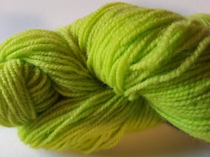 Lime Worsted Weight Yarn