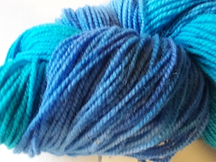 Turquoise & Blue Worsted Weight Yarn