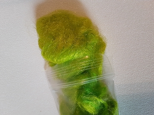 Lime Firestar dyed blending fiber