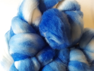 Ink Blue Merino dyed combed top