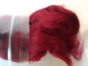 Plum Firestar dyed blending fiber