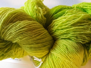 Pair of Sox Lime Sock Weight Yarn