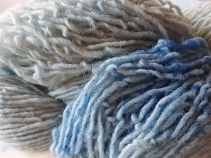 Pair of Sox Light Blue Varigated Sock Weight Yarn