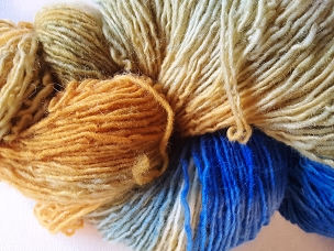Pair of Sox Orange/Blue Self-Striping Sock Weight Yarn