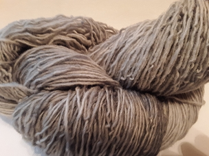 Pair of Sox Silver Varigated Sock Weight Yarn