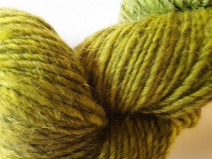 Green Over Gray Single Worsted Weight Yarn