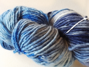 Ink Blue & Navy Varigated Single Worsted Weight Yarn