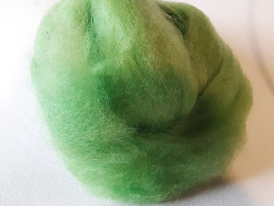 Bright Green Fleece Dyed Roving