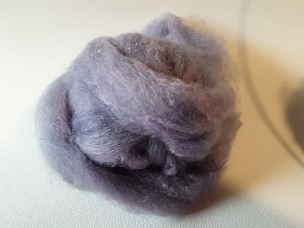 Gray overdyed Violet with Cotton
