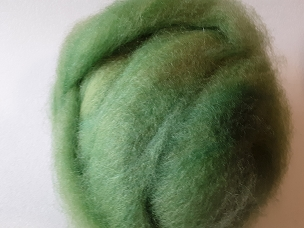 Light Green Fleece Dyed Roving