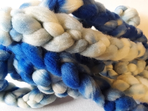 Ink Blue/White Rambouillet dyed combed top
