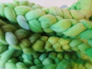Lime Rambouillet dyed combed top